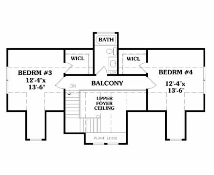 Optional Second Floor image of LAKESIDE House Plan
