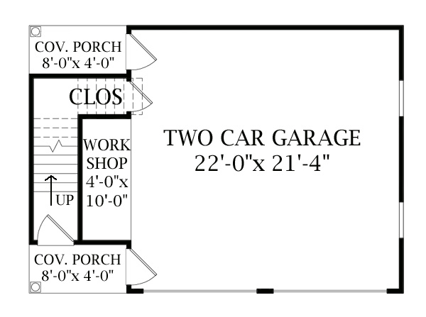 Plan: Included Detached Garage by DFD House Plans