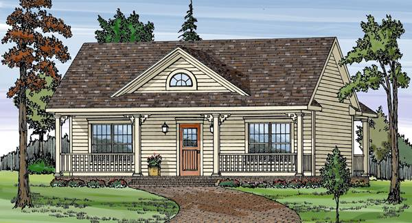Cottage House Plan with 2 Bedrooms and 1.5 Baths - Plan 6645