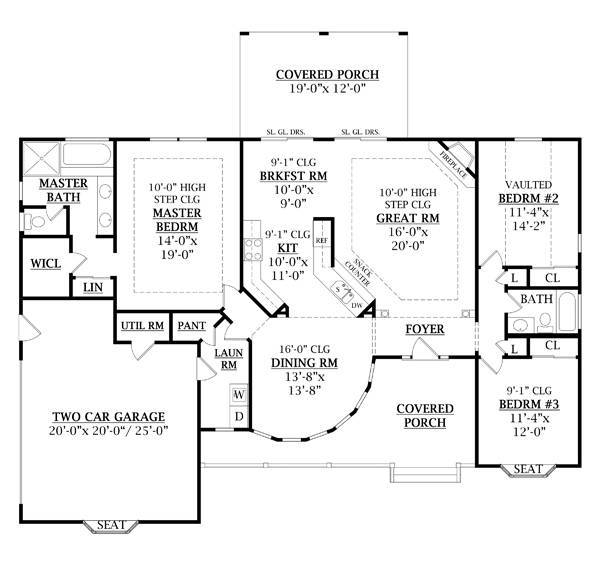 First Floor Plan image of JASPER II House Plan