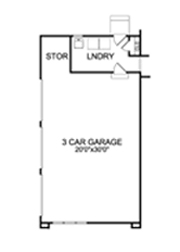 3 Car Garage Plan