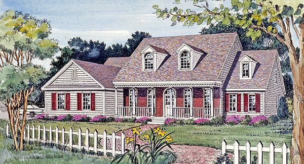 Front Rendering image of CAMELLIA House Plan