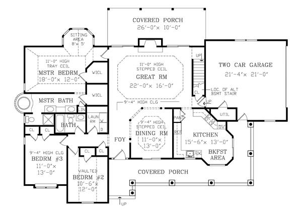 First Floor Plan image of RICHMOND House Plan