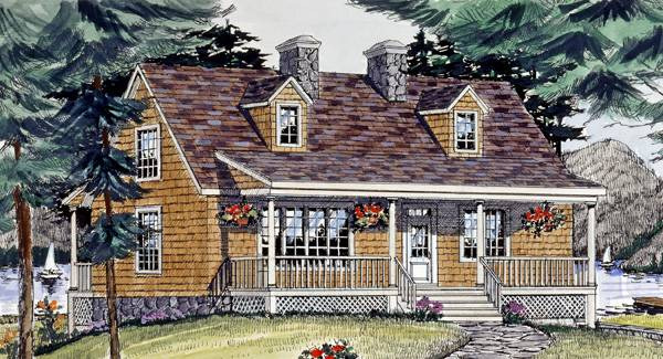 Front Rendering image of LAKEVIEW House Plan