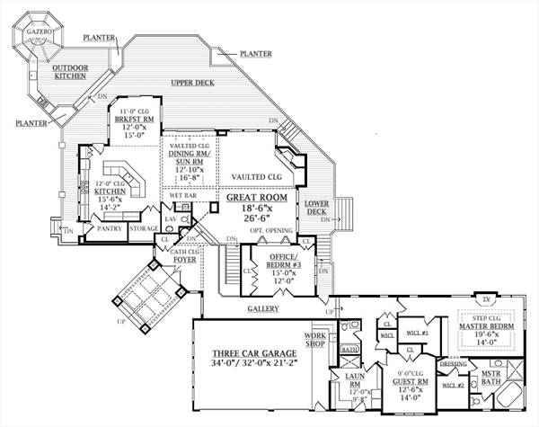 . Contemporary House Plan with 5 Bedrooms and 3 5 Baths   Plan 6940
