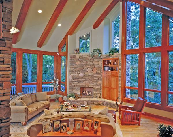 Great Room image of TREE TOP TREASURE House Plan