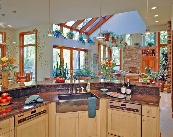 Kitchen 2 image of TREE TOP TREASURE House Plan