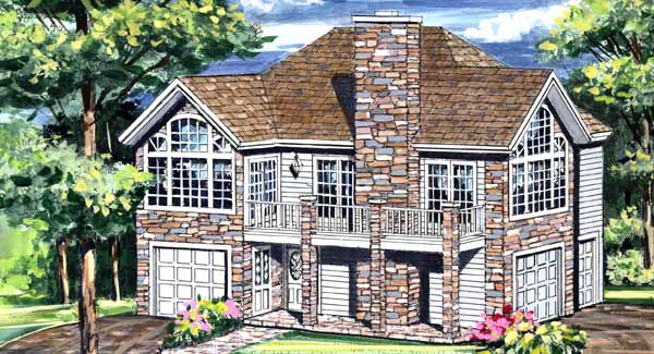 Front Rendering image of HIGHPOINT House Plan