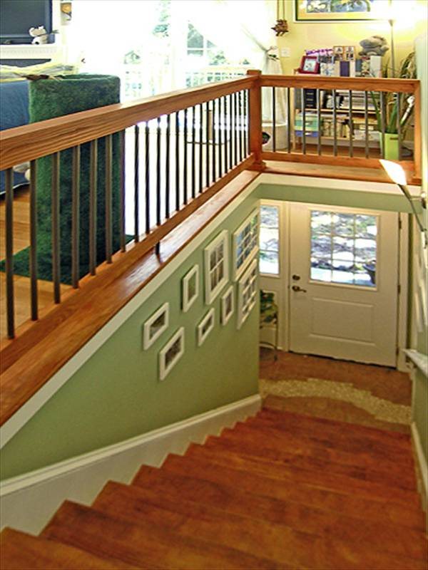 Stair Well Looking Down by DFD House Plans