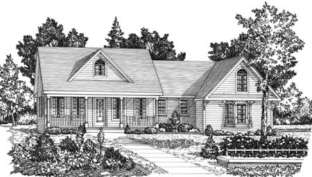 Front Exterior image of AUGUSTA House Plan