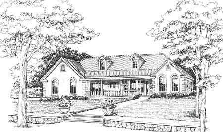 Front Rendering #2 by DFD House Plans