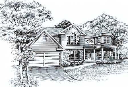 Front Rendering image of GETTYSBURG II House Plan