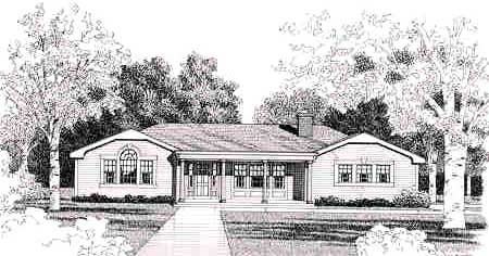 Front Rendering #2 image of FARRAH House Plan