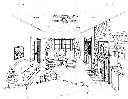 Great Room image of CEDAR MILLS House Plan