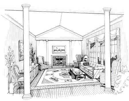 Living Room image of FARRAH House Plan