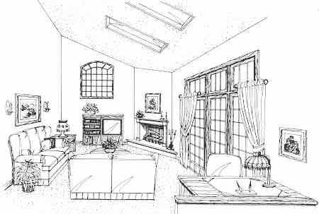 Family Room by DFD House Plans