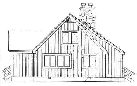 Rear Elevation image of IRIS House Plan