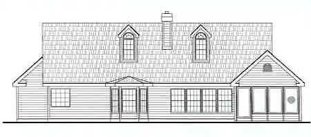 Rear Elevation image of CEDAR MILLS House Plan