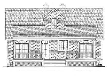 Rear Elevation image of LAKEVIEW House Plan