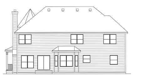Rear Elevation image of GETTYSBURG II House Plan
