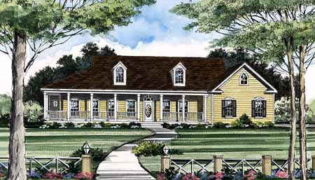 Front Rendering #1 by DFD House Plans