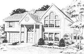 Front Rendering image of GREENFIELD House Plan