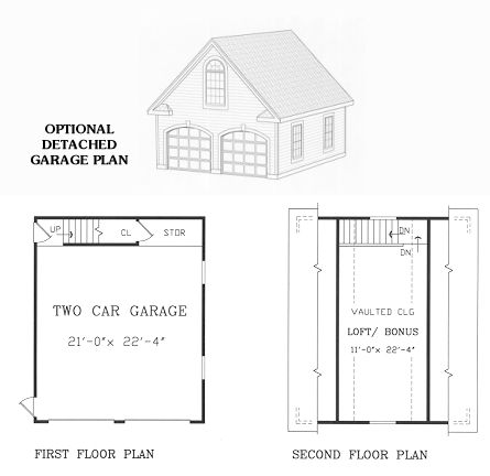 Garage Floor Plan by DFD House Plans