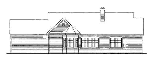 Rear Elevation -without walk out by DFD House Plans
