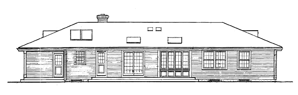 Rear Elevation image of FARRAH House Plan