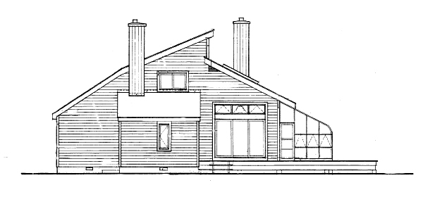 Rear/Left Side Elevation by DFD House Plans