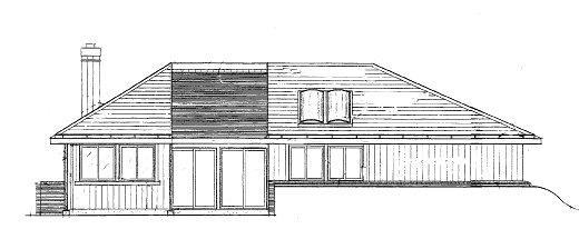 Rear Elevation image of DOGWOOD House Plan