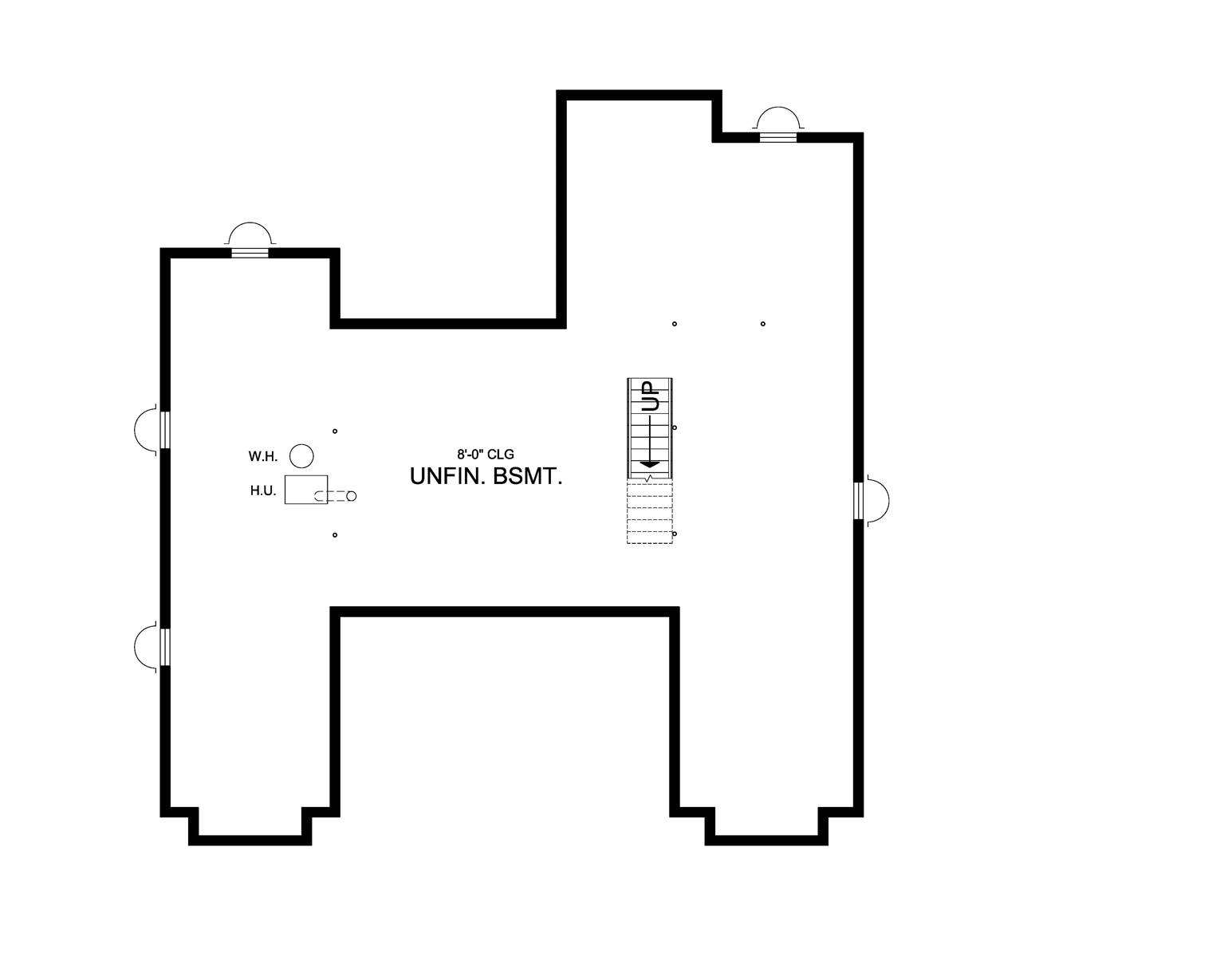 Basement Plan image of Leesburg House Plan