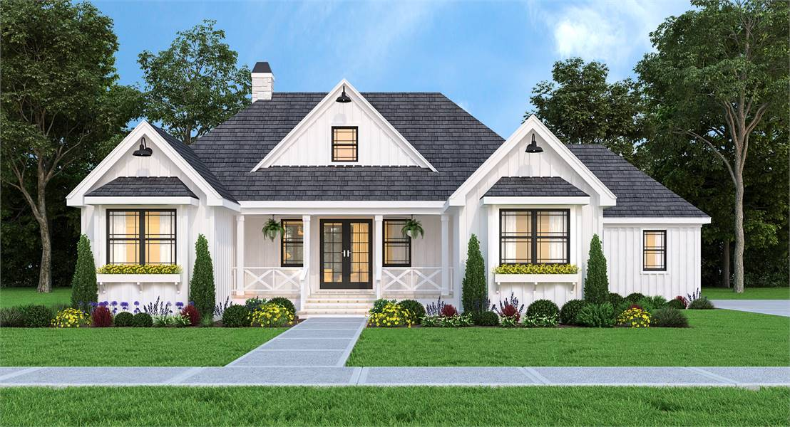 Front View image of Leesburg House Plan