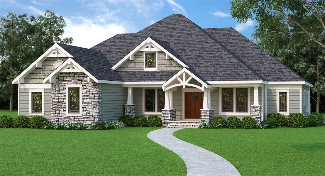 Country House Plan With 4 Bedrooms And 2 5 Baths Plan 9898