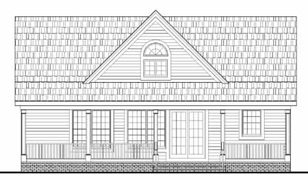 Rear Elevation image of LAKESIDE House Plan