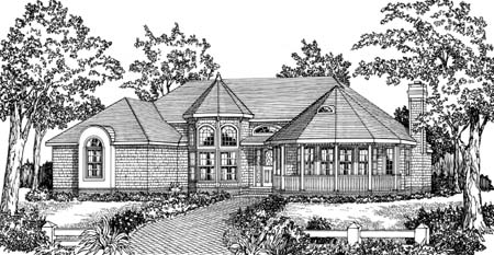 Front Rendering #1 image of CRANBROOK House Plan