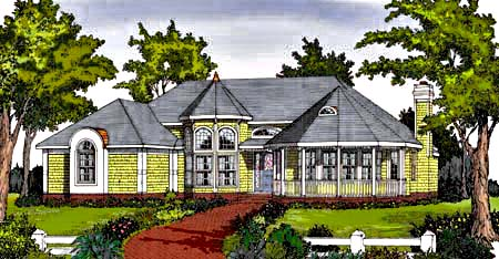 Front Rendering image of CRANBROOK House Plan