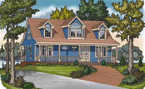 Front Rendering image of LAKESIDE House Plan