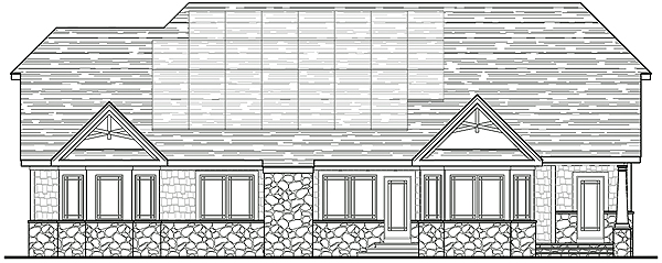 South/Rear Elevation by DFD House Plans