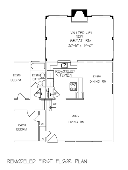 Remodeled First Floor Plan by DFD House Plans