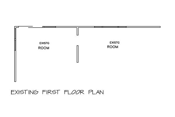 Existing First Floor Plan by DFD House Plans
