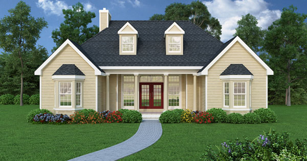 ranch house plan with 3 bedrooms and 25 baths plan 4676 - Ranch House