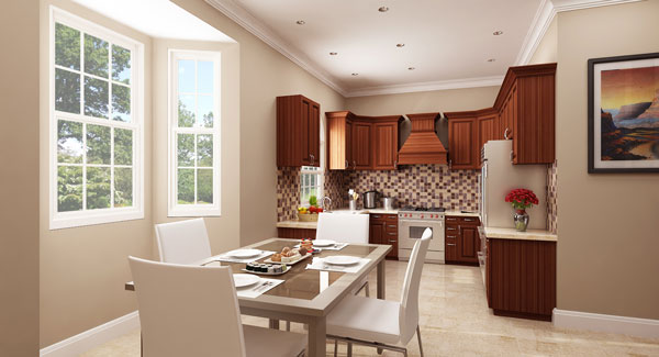 KraftMaid Kitchen with Sub-Zero/Wolf Appliance's by DFD House Plans