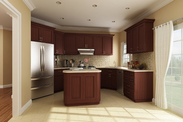 Kitchen Rendering by DFD House Plans