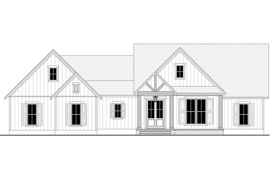 Front View image of Green Hills House Plan