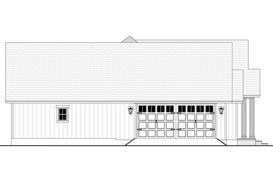 Left View image of Green Hills House Plan