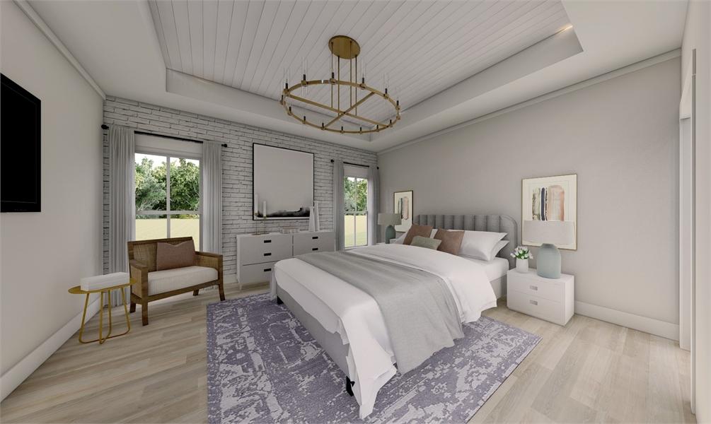 Master Bedroom image of Green Hills House Plan