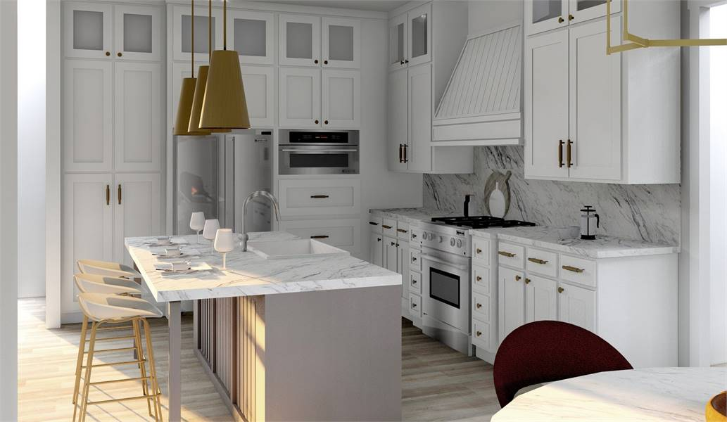 Kitchen image of Green Hills House Plan