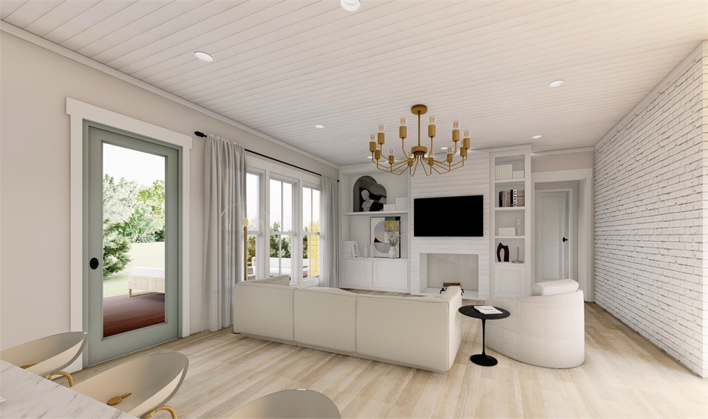 Living Room image of Green Hills House Plan
