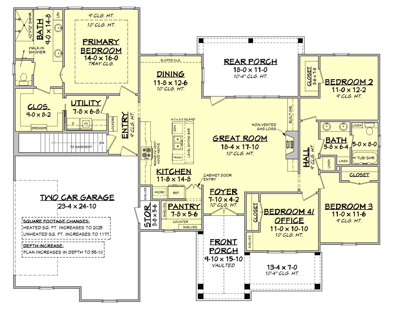 Basement Stair Location image of Green Hills House Plan